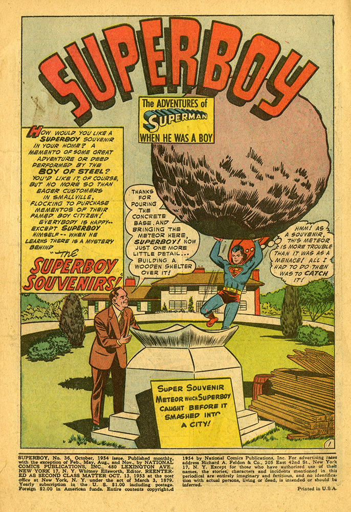 Superboy The Superboy Souvenirs no.36 OCT 1954 1.jpg