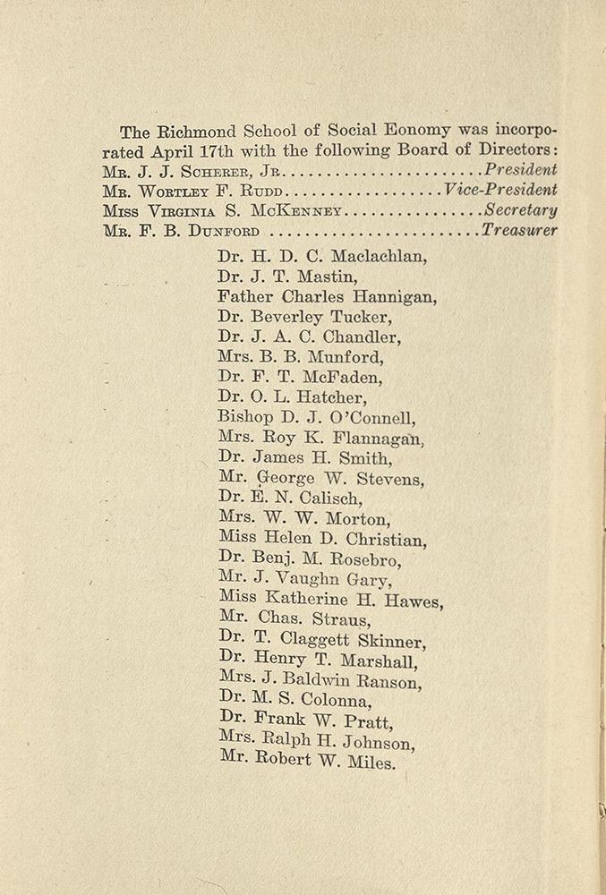 VCU_Richmond SSE First Annual Announcement 1917-18 Board of Directors p4 rsz.jpg