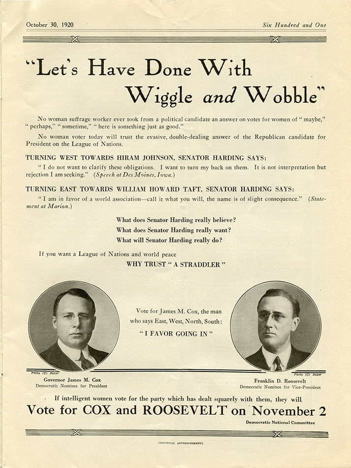 Woman Citizen Oct 30 1920 Cox Roosevelt ad rsz.jpg