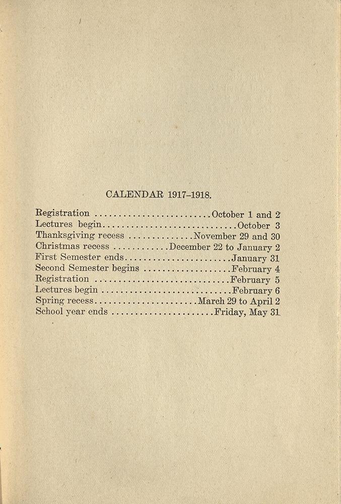 VCU_Richmond SSE First Annual Announcement 1917-18 Academic Calendar p3 rsz.jpg