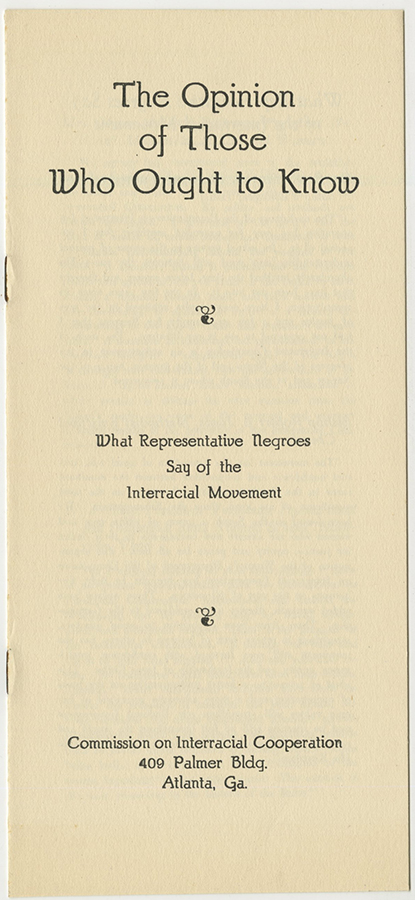 VCU_M 9 Box 100 Interracial Cooperation Commission Opinion of Those Who Ought to know cover rsz.jpg
