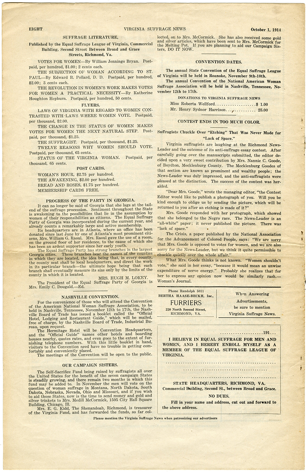VCU_M9 B56 Virginia Suffrage News Oct 1 1914 p8 rsz.jpg