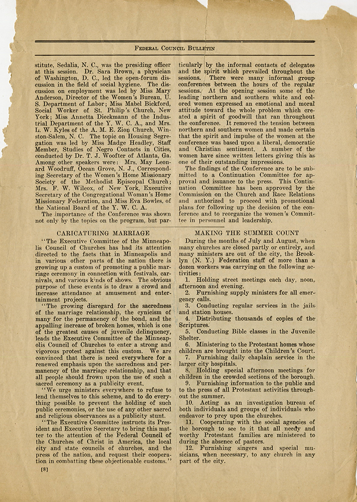VCU_M 9 Box 81 fInterracial Commission Federal Council Bulletin Sept Oct 1926 p8 rsz.jpg