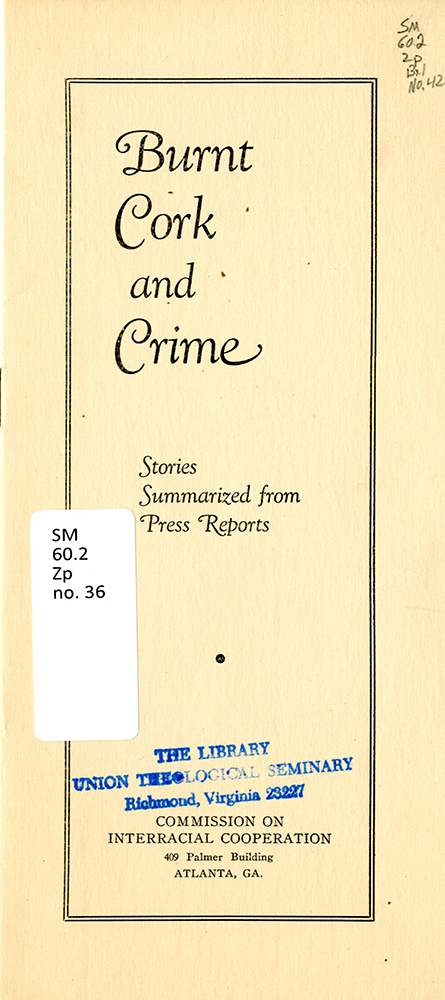 UPSem_Burnt Cork and Crime_Race Relations098 cover rsz.jpg