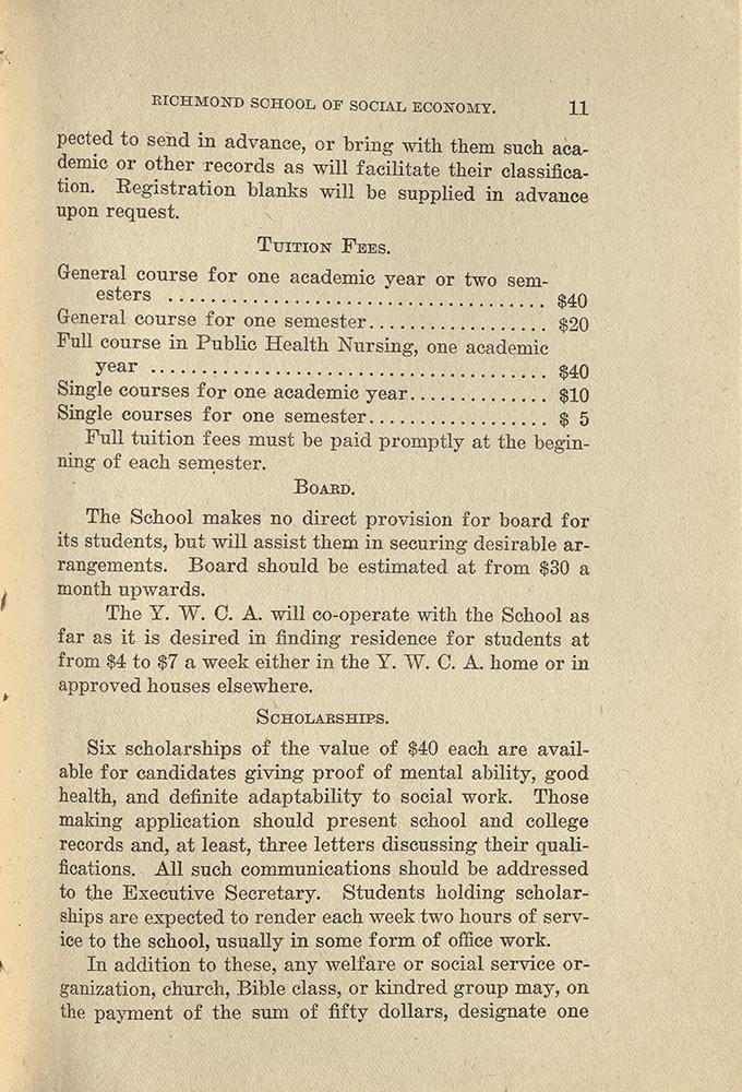 VCU_Richmond SSE First Annual Announcement 1917-18 Tuition board  p11 rsz.jpg