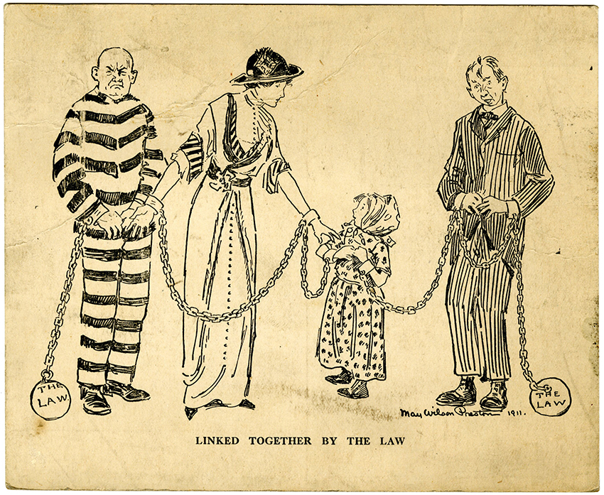 VCU_M 9 B 55 Linked together by the Law suffrage postcard rsz.jpg