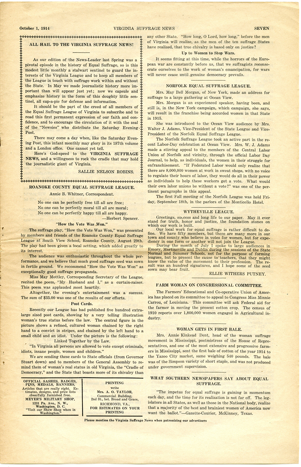 VCU_M9 B56 Virginia Suffrage News Oct 1 1914 p7 rsz.jpg