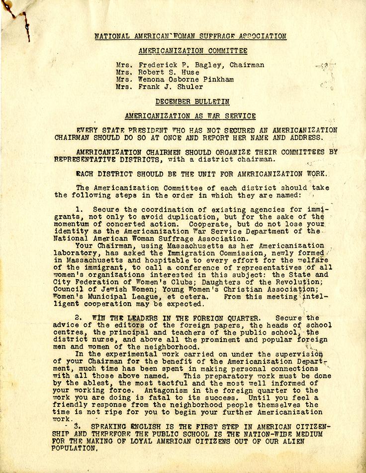 M9 Box 48 December Bulletin NAWSA Americanization Committee p1 rsz.jpg