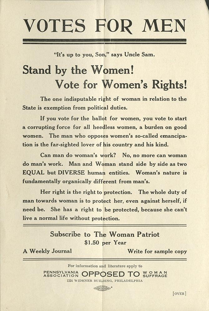 VCU_M 9 Box 51 Anti Suffrage Votes for Men rsz.jpg