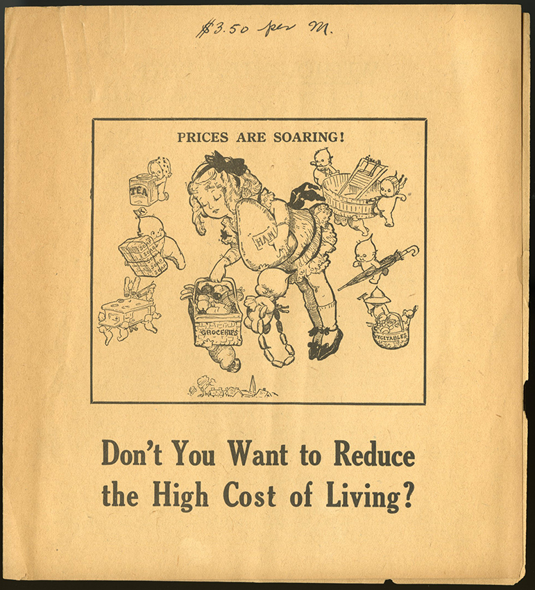 VCU_M9 B49 NAWSA Handbills Rose ONeill Dont You Want to Reduce the High Cost of Living p1 rsz.jpg