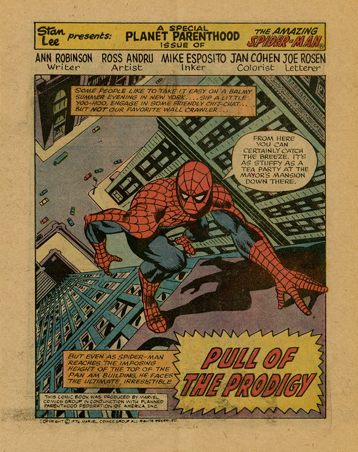 VCU_Spider Man_Planned Parenthood comic title page rsz.jpg