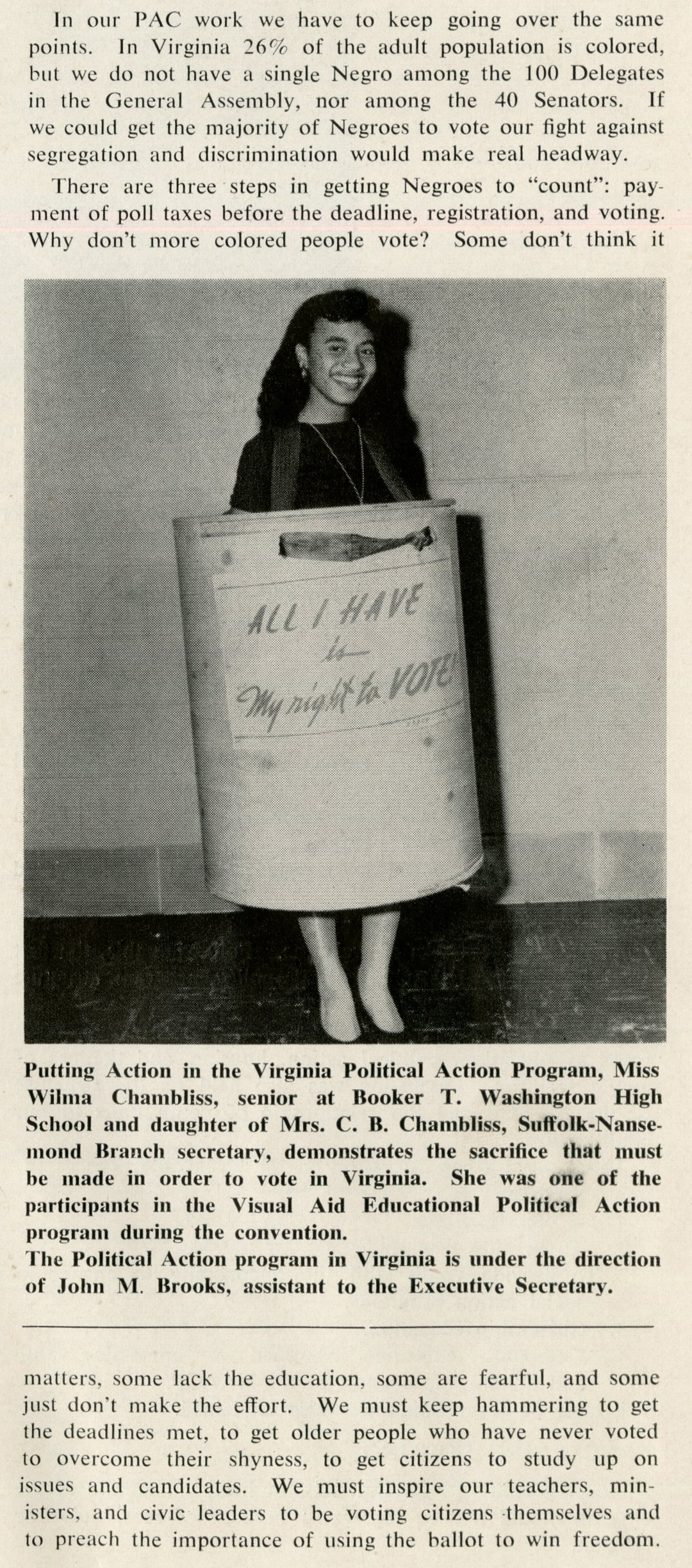 VCU_M296 Box 2 fVirginia The Candle December 1957 Wilma Chambliss tax register vote p2 rsz.jpg
