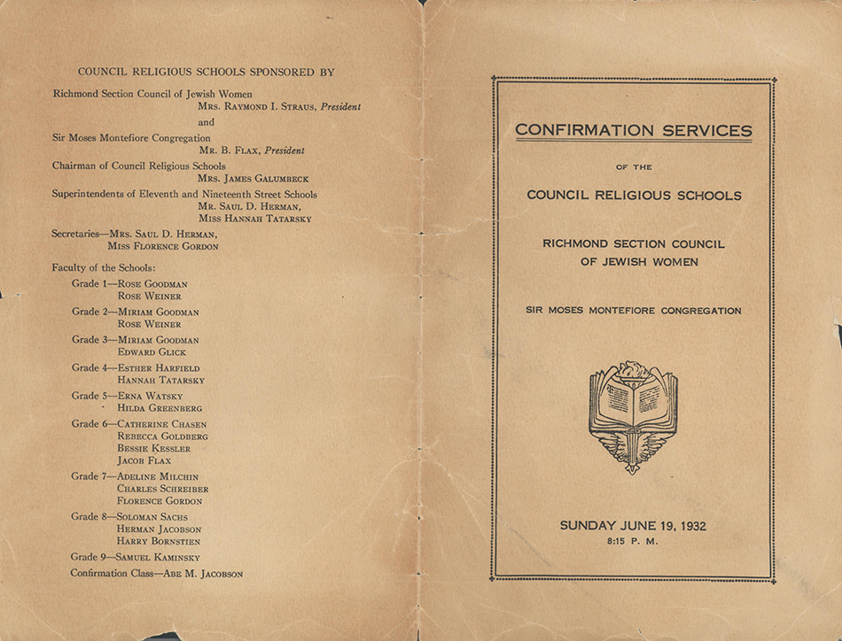 Beth Ahabah_Neighborhood House Confirmation Program 1932 2p cover rsz.jpg