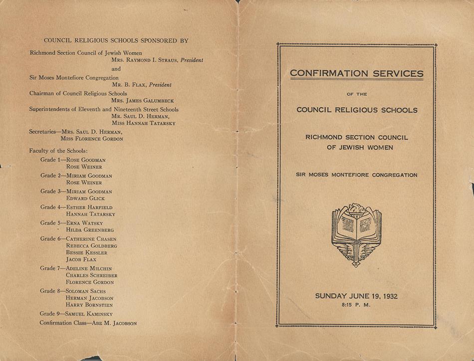 Beth Ahabah_Neighborhood House Confirmation Program 1932 2p cover rsz.jpg