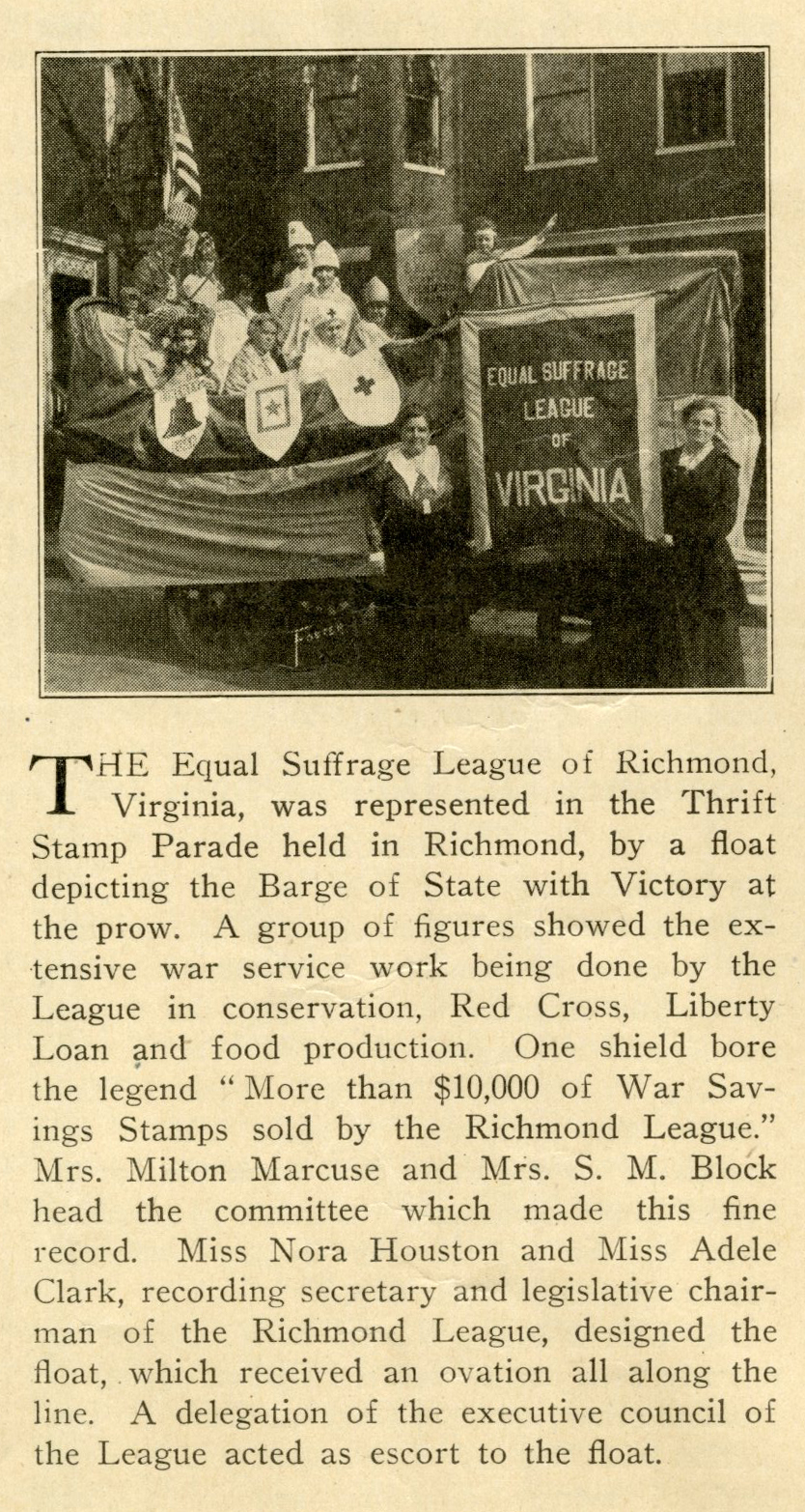 Woman Citizen April 20 1918_ESL of VA Thrift Stamp Parade float p414.jpg