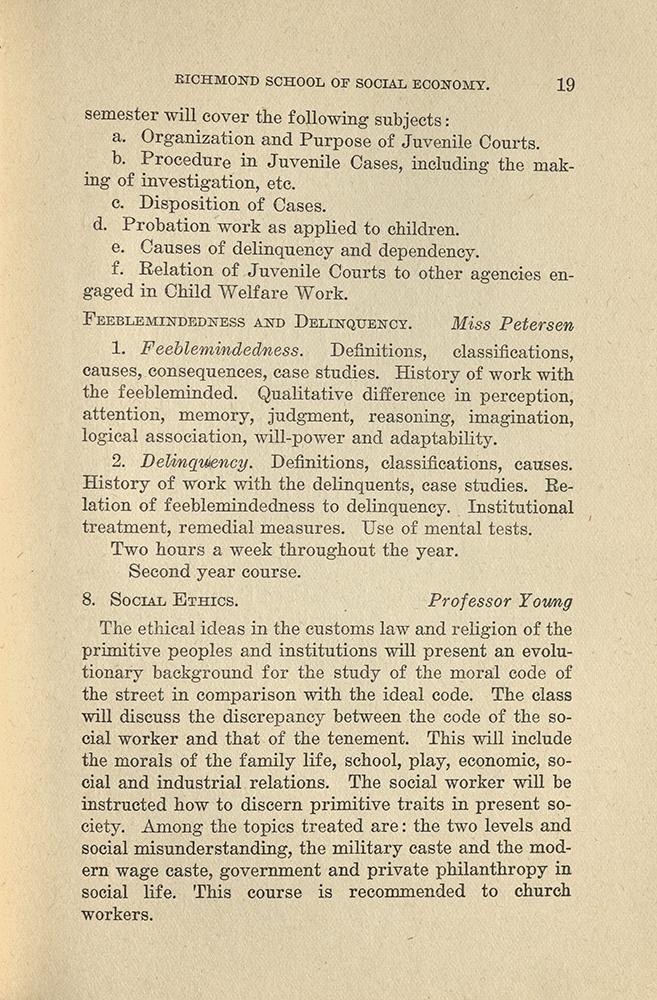 VCU_Richmond SSE First Annual Announcement 1917-18 course des p19 rsz.jpg