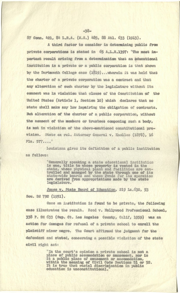 Tulane Univ_Segregation in the Field of Public and Private Law p38 rsz.jpg