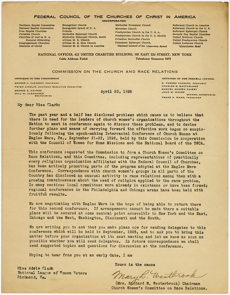 VCU_M 9 Box 81 fInterracial Commission_ Letter from Westbrook April 23 1928_second conf rsz.jpg