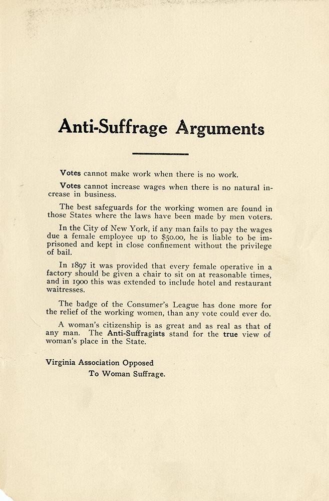 VCU_M 9 Box 51 AG Clark_Anti Suffrage VA Anti Suffrage Arguments rsz.jpg