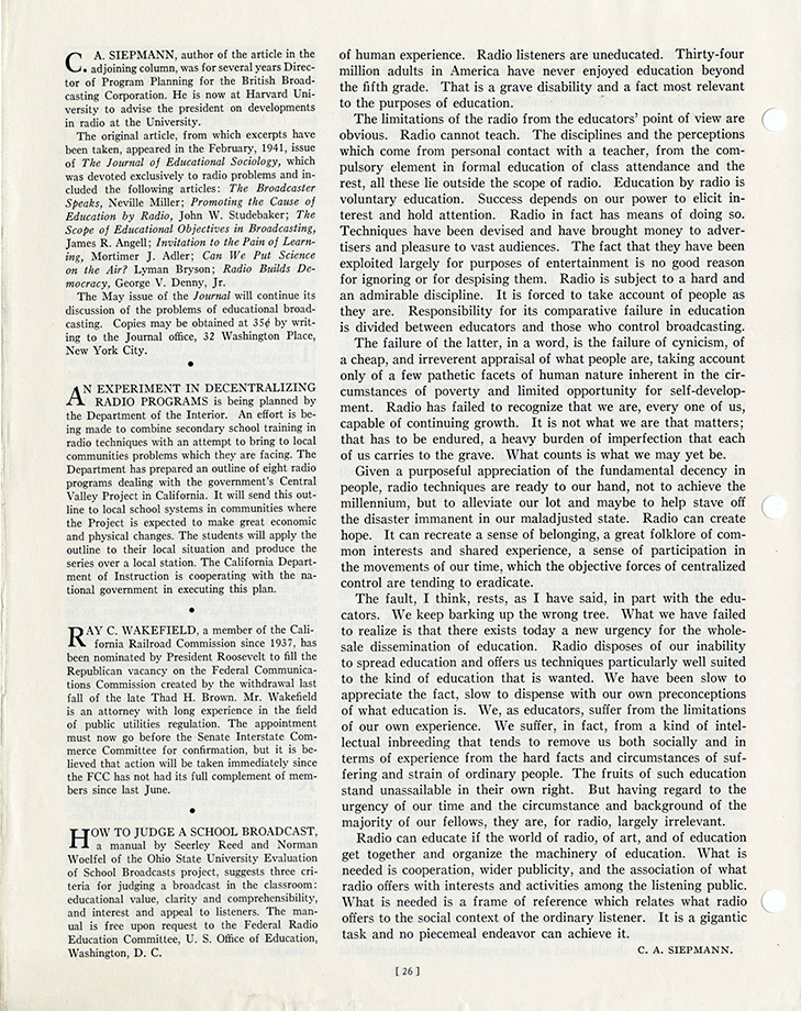 VCU_M 172 Box 5 Calvin T Lucy Education by Radio 1941 p26 rsz.jpg