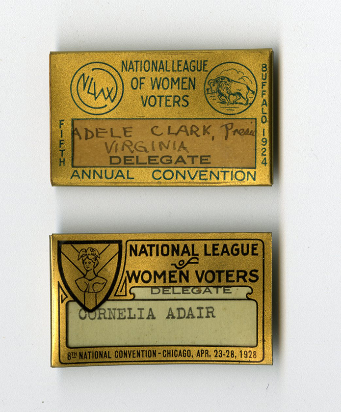 M9 Box 230 National League of Women Voter Convention badges rsz.jpg