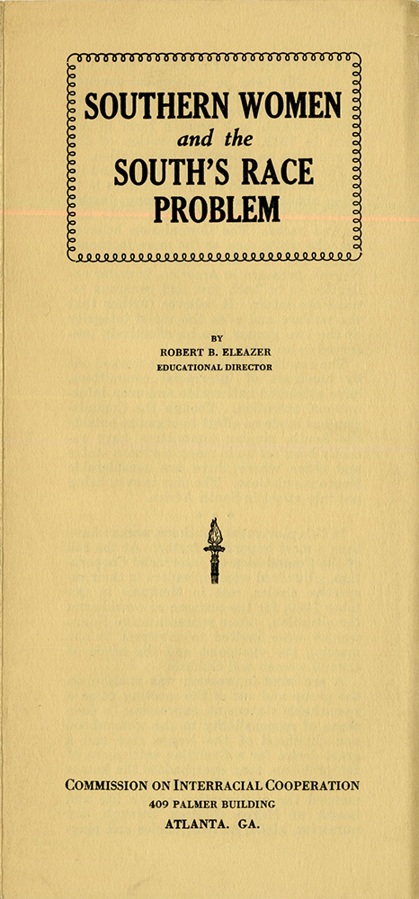 VCU_M 9 Box 243 CIC Southern women and the souths race problem cover rsz.jpg