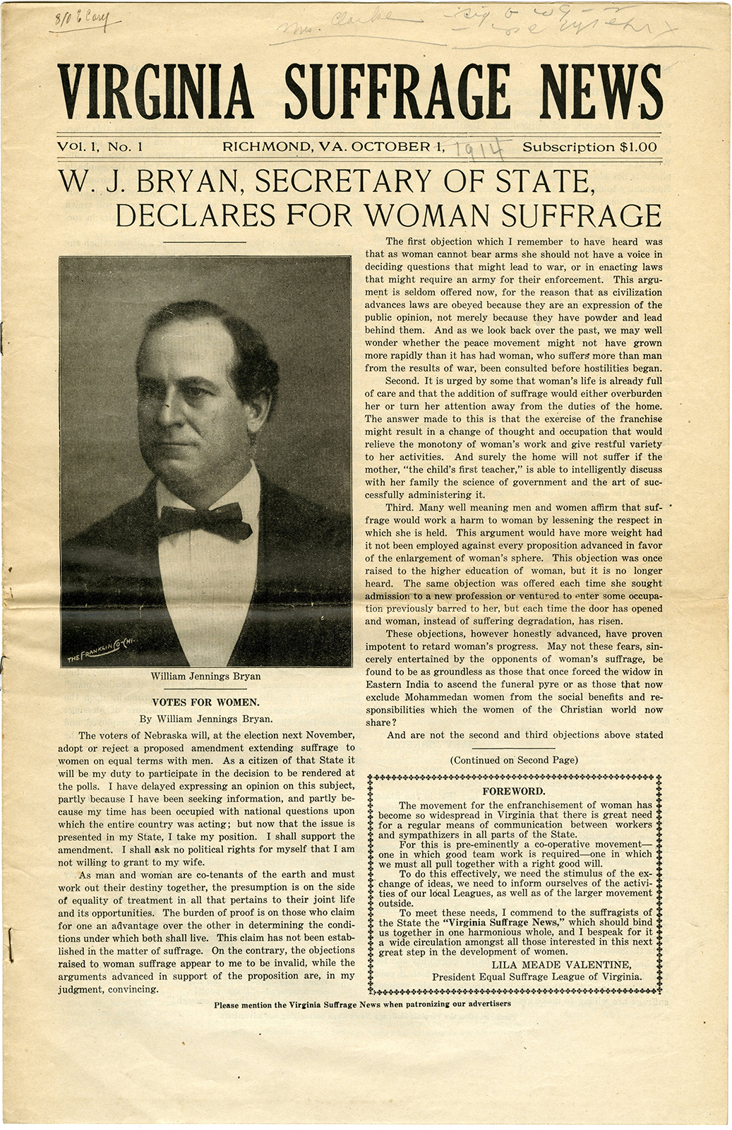 VCU_M9 B56 Virginia Suffrage News Oct 1 1914 p1 rsz.jpg