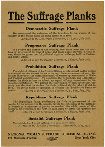 The Suffrage Planks [suffrage handbill]