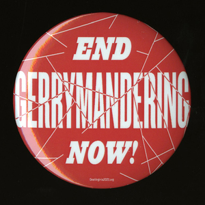 End Gerrymandering Now! [pinback button]