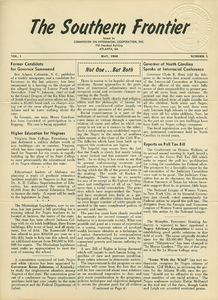 The Southern Frontier, vol. 1, no. 5 [Texas Issue]