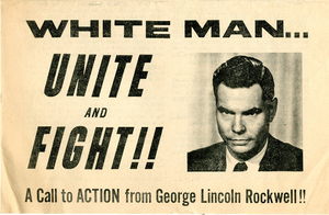 George Lincoln Rockwell, Richmond, Va., July 4, 1963 [publicity flyer]