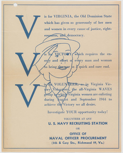 """V is for Virginia"" [broadside]"