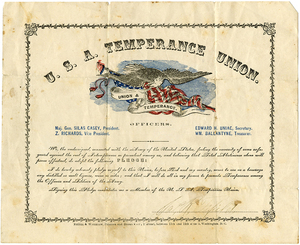 U.S.A. Temperance Union Pledge