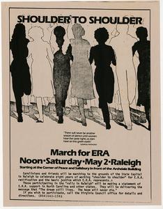 Shoulder to Shoulder. March for ERA [handbill]
