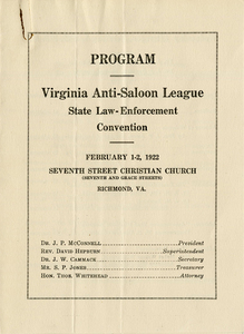VCU_M 9 Box 34 Anti Saloon League State Convention 1922 program cover rsz.jpg