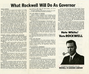 What Rockwell Will Do As Governor [Rockwell for Governor Campaign leaflet]