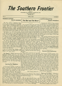 The Southern Frontier, vol. 1, no. 4 [South Carolina Issue]
