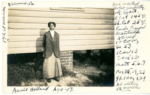 Annie Holland, Age 17, Seventeenth Street Mission, Richmond, VA