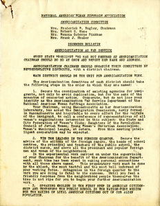 December Bulletin. Americanization As War Service. National American Woman Suffrage Association