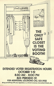 Louisiana Lesbian and Gay Political Action Caucus (LAGPAC) Voter Registration Poster