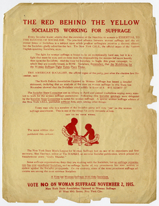 The Red Behind the Yellow, Socialists Working for Suffrage [anti-suffrage handbill]