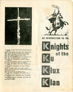 An Introduction to the Knights of the Ku Klux Klan [United Klans of America pamphlet]