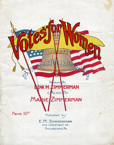 Votes for Women. Suffrage Rallying Song