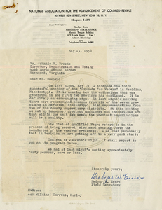 Letter from Medgar W. Evers to John M. Brooks, May 15, 1958