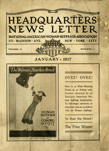 Headquarters News Letter: National American Woman Suffrage Association