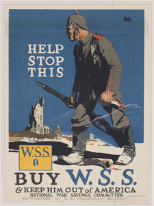 Help Stop This. Buy W. S. S. & Keep Him Out of America