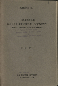 VCU_Richmond SSE First Annual Announcement 1917-18 Cover rsz.jpg