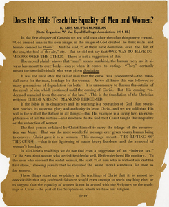 VCU_M9 B233 Does the Bible Teach the Equality of Men and Women broadside p1.jpg