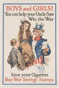 Boys and Girls! You can help your Uncle Sam Win the War